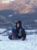 The boy in the snow — Stock Photo