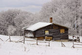 Mountain House, a winter environment — Stock Photo