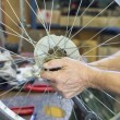 Foto Stock: Repair bicycle