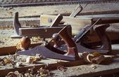 Old carpenter's plane — Foto Stock