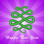 New Year card with a snake (symbol of 2013 year) — Stock Vector