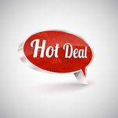 Hot deals vector icon, illustration — Stock Vector