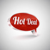Hot deals vector icon, illustration — Stock Vector