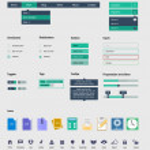 zestaw UI jest z pięknej elementy wyposażone mieszkanie wystrój zestaw ikon — Wektor stockowy