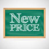 новая цена - надписи мелом — Cтоковый вектор