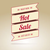 Ribbon with the inscription Hot sale — Vector de stock