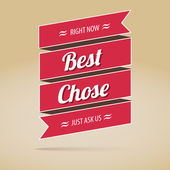 Best chose poster, vector illustration — Stock Vector