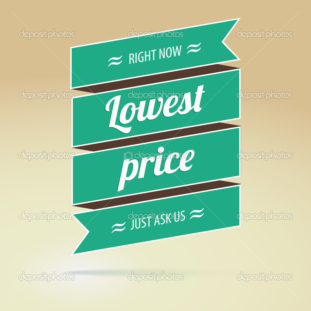 Price for a poster design - Lowest Price Poster Vector Illustration For Your Design Vector By Master Erik