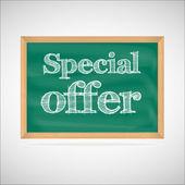 Offerta speciale - il gesso di iscrizione — Vettoriale Stock