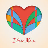 I love you mom — Vettoriale Stock