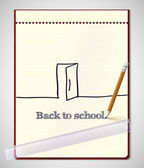 Back to school, vector illustration. — Stock Vector