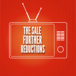 Постер, плакат: Silhouette of a TV The sale Further reduction