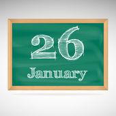January 26, inscription in chalk on a blackboard — Stockvector