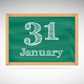 January 31, inscription in chalk on a blackboard — Stockvector