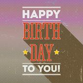 Vintage retro happy birthday card, fonts — Stock Vector