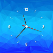 Creative clock on the abstract background — Stock Vector