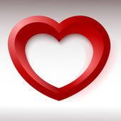 Rött hjärta, 3d-objekt för din design och konst — Stockvektor