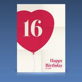 お誕生日おめでとうポスター — ストックベクタ