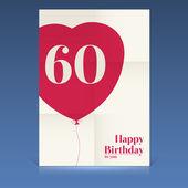 Happy birthday poster — Stock Vector
