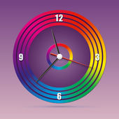 Colorful clock for your design. Have fun. — Stock Vector