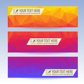 Set of banners for your website, Triangle — Stock Vector