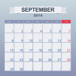 September 2014-planning calendar — Stock Vector #36156109