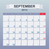 September 2014-planning calendar — Stock Vector