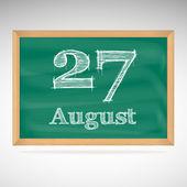 August 27, inscription in chalk on a blackboard — Vetorial Stock