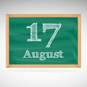 August 17, inscription in chalk on a blackboard — Vetorial Stock
