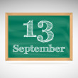 Stock Vector: September 12, day calendar, school board, date