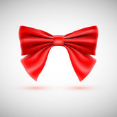 Red festive bow — Stock Vector