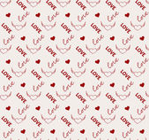 Heart and love seamless pattern in vector — Stock Vector