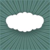 Sfondo vettoriale vintage con la forma di una nuvola — Vettoriale Stock