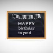 Birthday greetings on schoolboard — Stock Vector