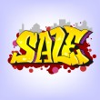 Graffiti style, sale inscription, urban art. — Stock Vector #50564505