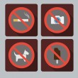 Set of prohibition signs. — Stock Vector #51797093