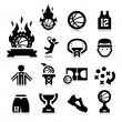 Stock Vector: Basketball Icons
