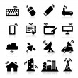Wireless icons - Stok Vektr