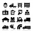 Truck icons — Stock Vector #20537077