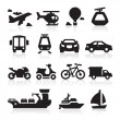 Stock Vector: Transportation icons