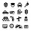 Taxi Business icons set Elegant series — Stock Vector