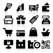 Shopping icons — Vector de stock #20537321