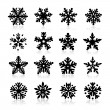 Stock Vector: Snowflake Icon