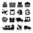 Shipping icons — Stock Vector #20537337