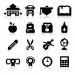 School icons — Vector de stock #20537341