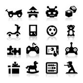Toy icons — Stock Vector
