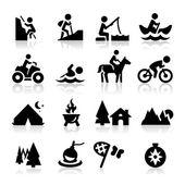 Icone di ricreazione — Vettoriale Stock