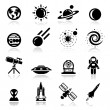 Royalty-Free Stock Vector Image: Space Icons set