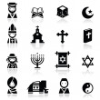 Royalty-Free Stock 矢量图片: Icons set Religions