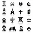 Icons set Religions - Stock Vector